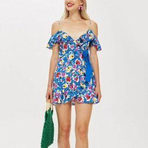 NWT Topshop Strappy Floral Minidress